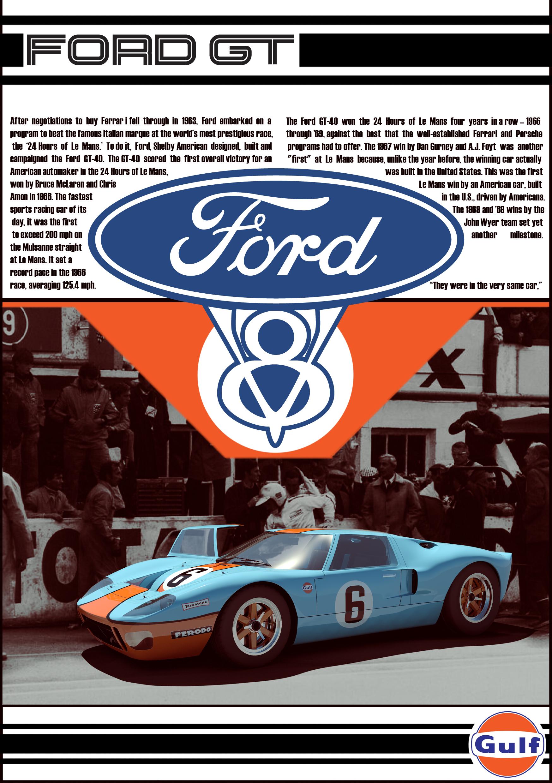 Ford Gt40 Vintage Add By Zornxiv On Deviantart