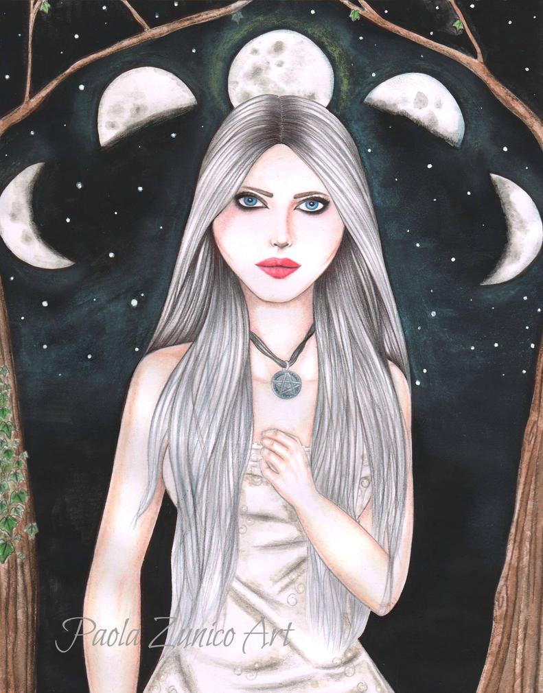 Moon Goddess by PaolaZunico