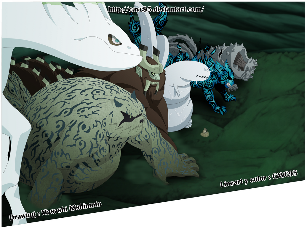 Naruto 658 _ Los Bijuu vs Madara by CAVC95