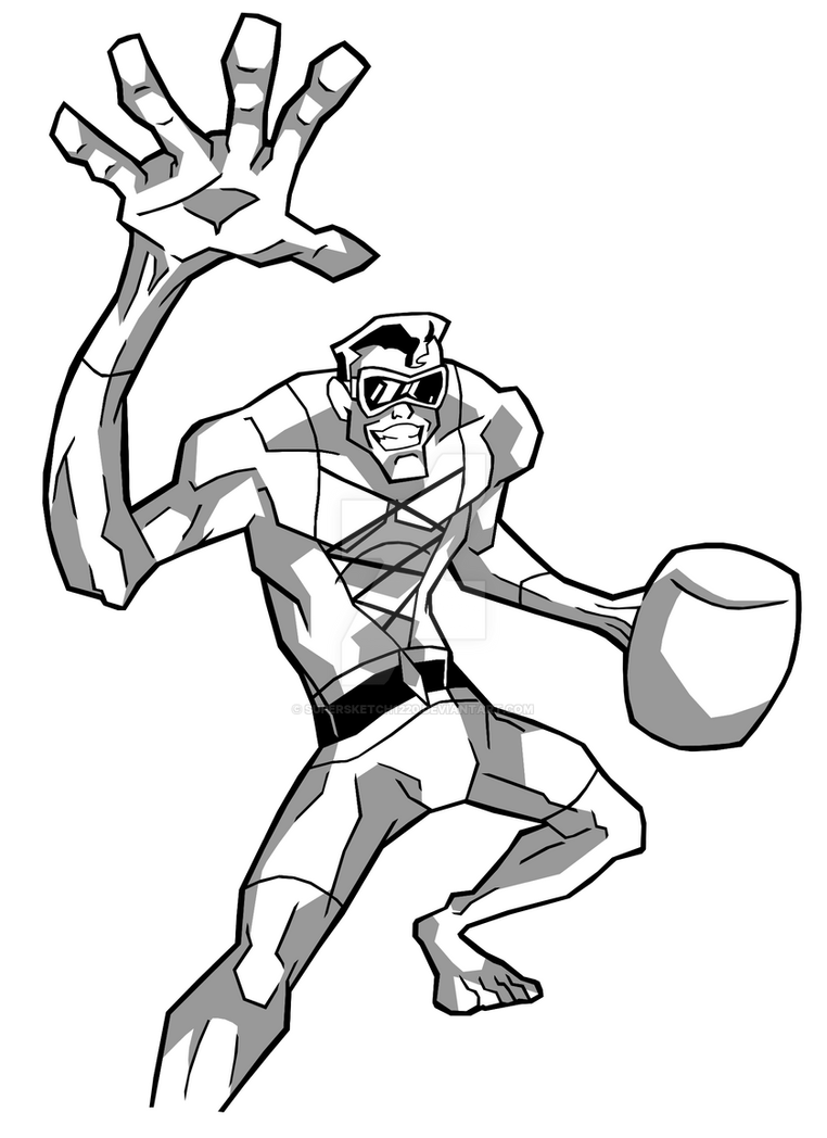 Young Justice Plastic-man (ink and shadow) by ...