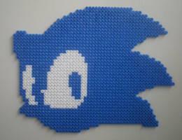 Sonic Team Logo Perler by CmOrigins