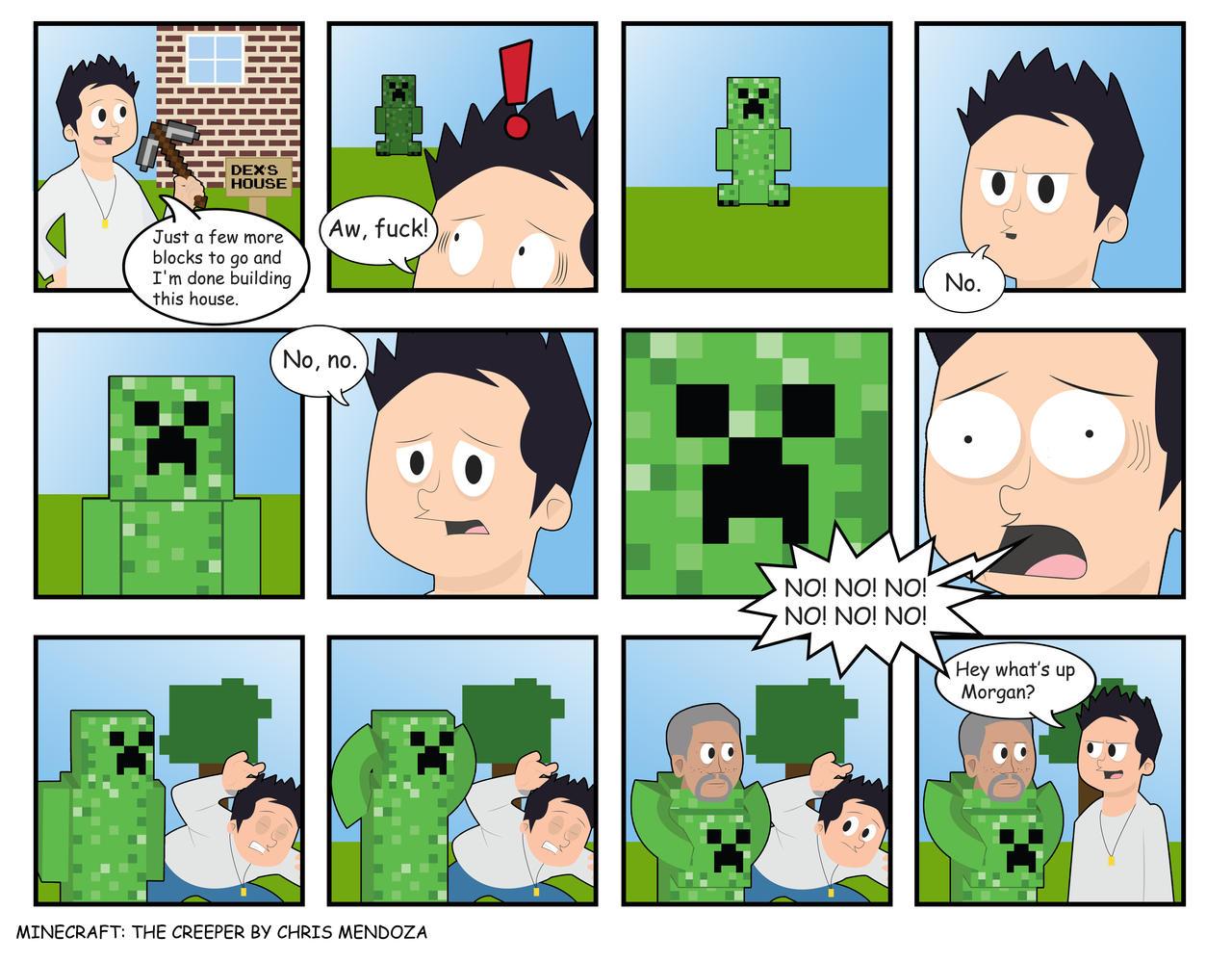 minecraft comicthe creeper by cmorigins on deviantart