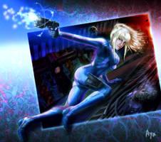 O-Ne: Samus Aran in METROID by Ayatonas