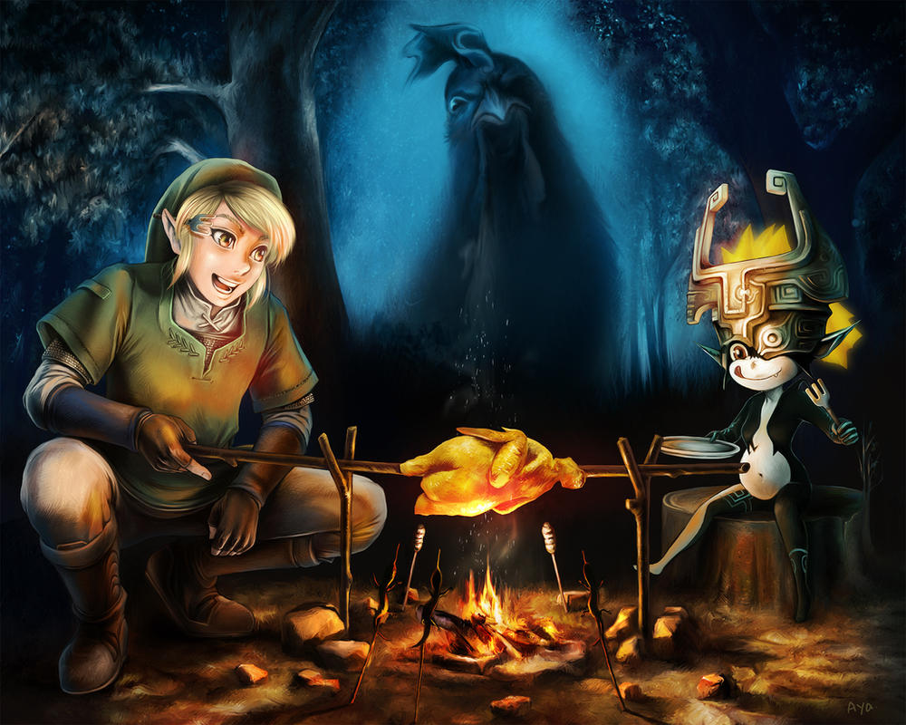O-Ni: Link and Midna (The Legend of Zelda) by Ayatonas