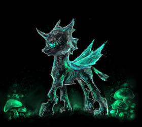 (MADE BY: ELKAART) Crystallized Changeling by TwilightIsMagic