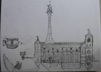 Canterlot University, the Twilight Spire building by TwilightIsMagic