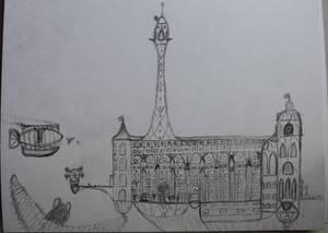Canterlot University, the Twilight Spire building