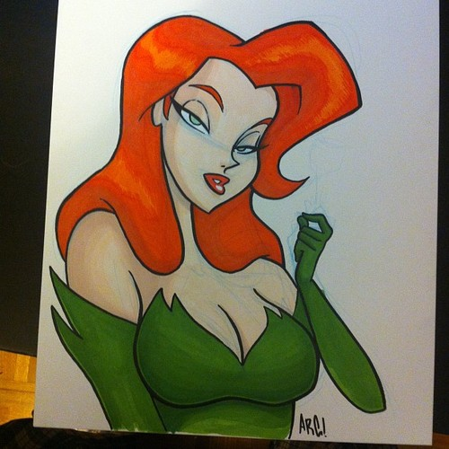 Poison Ivy Marker Sketch by IAMARG