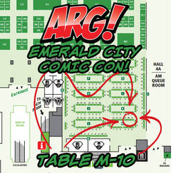 ARG! at Emerald City Comic Con TABLE M-10!
