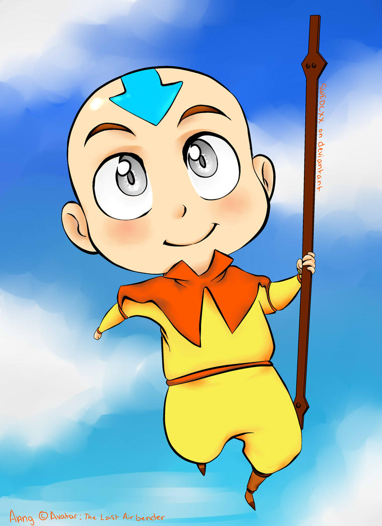 .:Chibi:.Aang by SWEDCXX