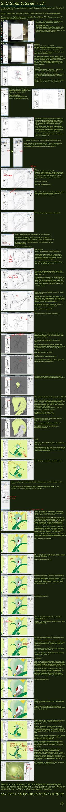Line Art Gimp : Lineart less gimp tutorial by zymonasyh on deviantart