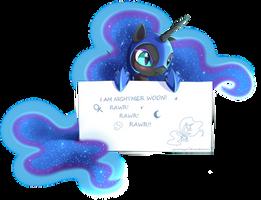 Nightmare Moon message by ZymonasYH