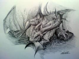 dragon by pikasso1989