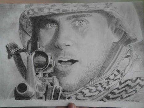 Jared Leto as a soldier [+TIME LAPSE VIDEO]