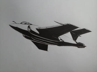 Hawker Siddeley Buccaneer Mk.50 Ink Drawing [I] by Rooivalk1