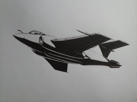 Hawker Siddeley Buccaneer Mk.50 Ink Drawing [I]