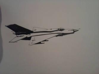 MiG - 21 Ink Drawing [II]