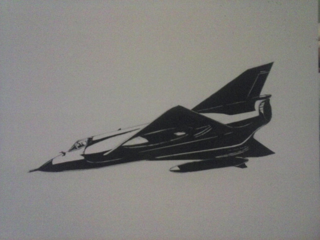 Mirage III Ink Drawing [III] by Rooivalk1