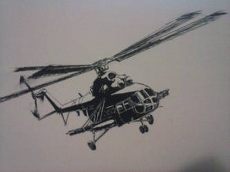 Mil Mi-8 Ink Drawing [IV] by Rooivalk1
