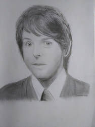 Young Paul McCartney Drawing