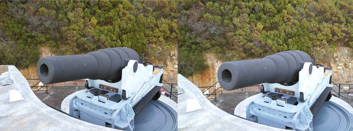 3D Crossview of a Cannon