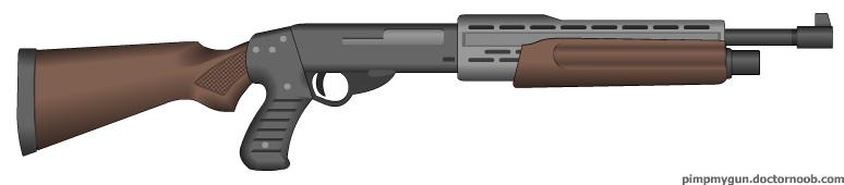 Black Pheonix shotgun by MegaBLYSTONE