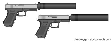 Suppressed 9mm Glocks by MegaBLYSTONE
