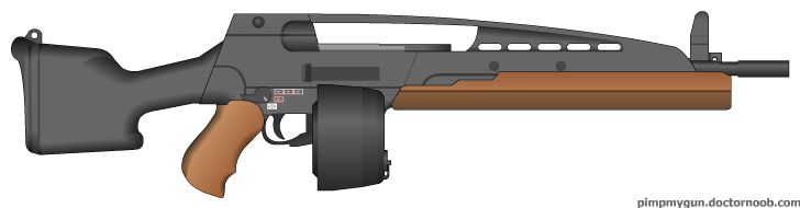 EMTB50 Automatic Rifle (REMAKE) by MegaBLYSTONE