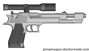 Scoped Desert Eagle w/ Extended Barrel by MegaBLYSTONE