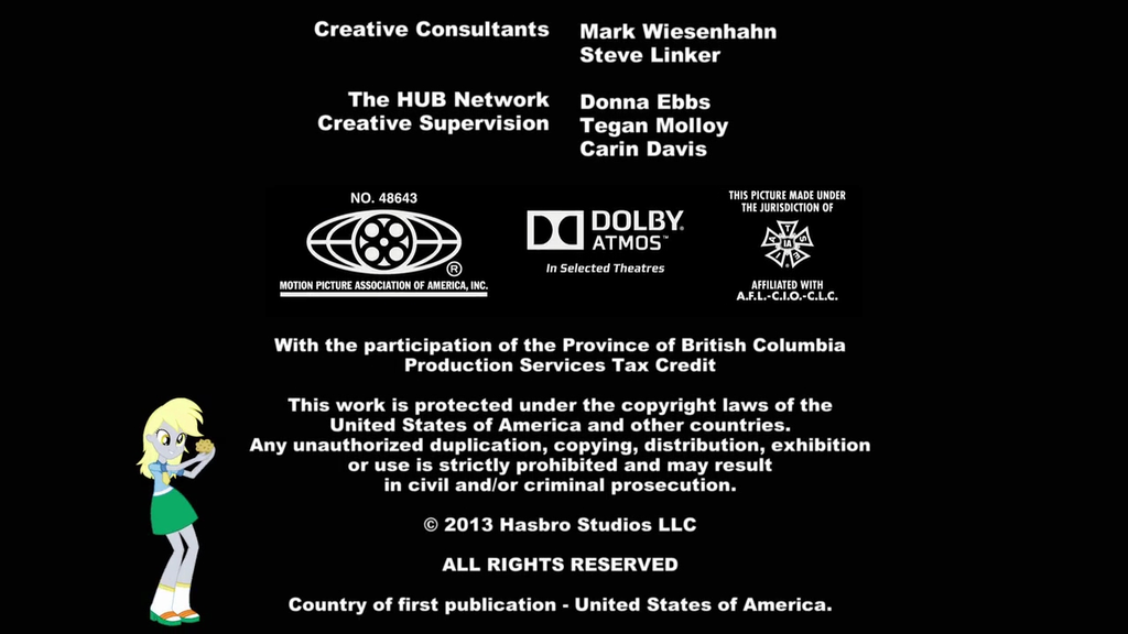 Mpaa Credits: My Little Pony: Equestria Girls End Credits W/MPAA By