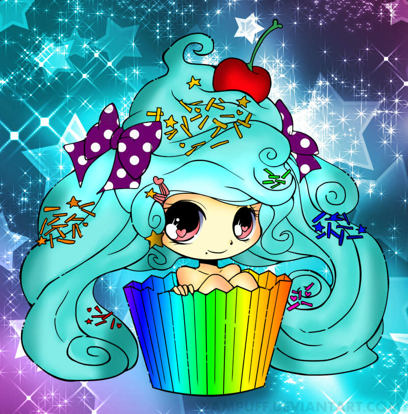 Anime cupcake girl by cutiepiegirl95 on DeviantArt