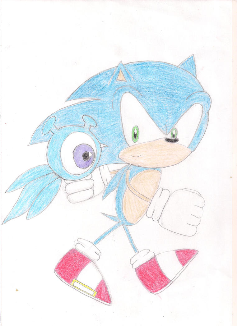 One Hour Sonic 2 - Sonic and a Wisp by aindania