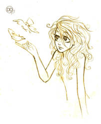 Birds - sketch by DropInTheAir