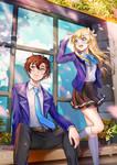 Commission - Saffron and Shion
