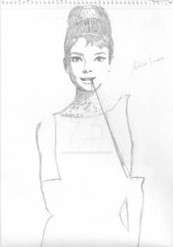 Audrey Hepburn Sketch (not finished)