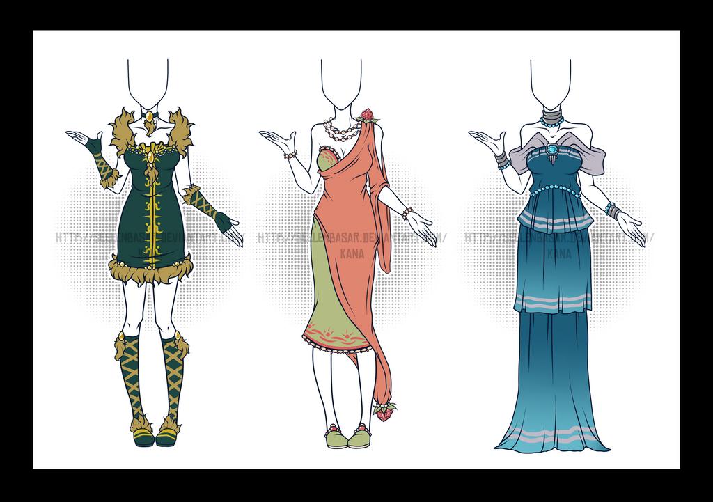 ...Long Night Dresses...Adopts/CLOSED by Seelenbasar