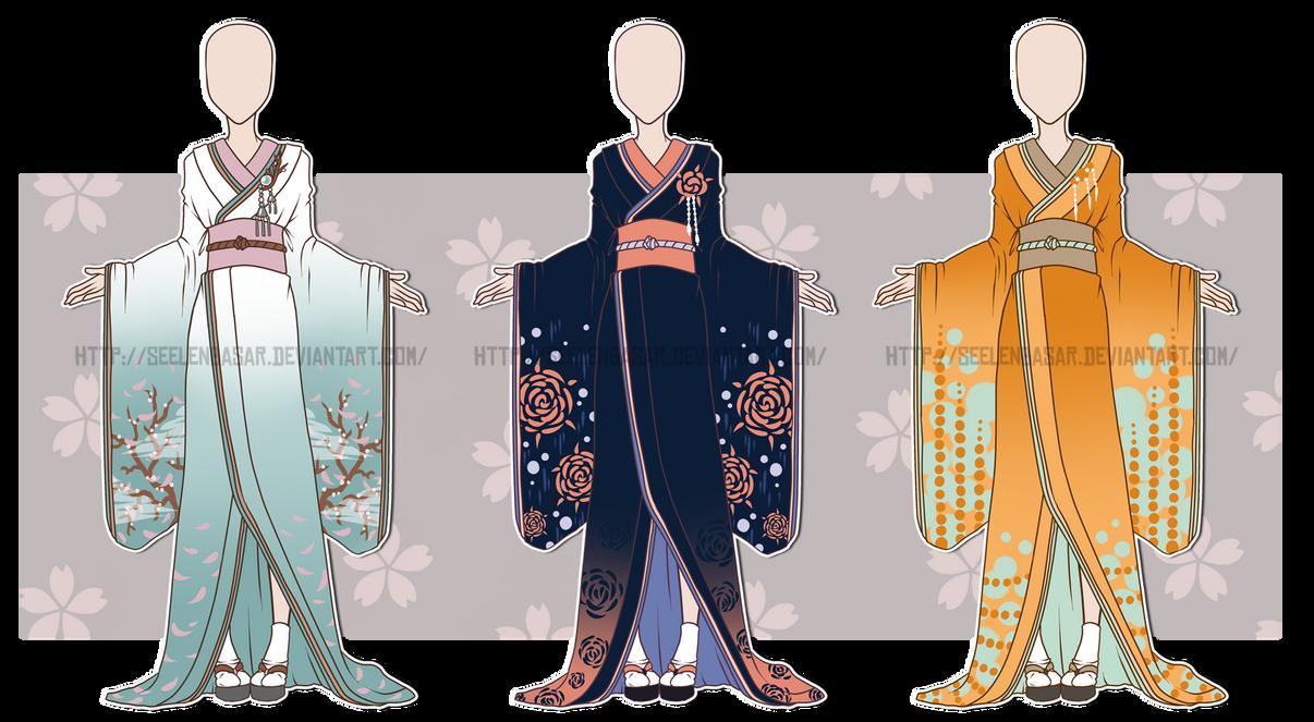 ...Kimono Outfit Adopts...CLOSED by Seelenbasar