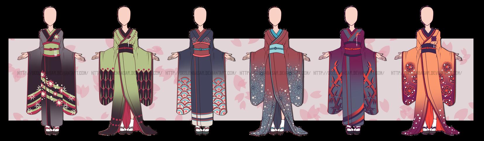 ...Kimono Outfit Adopts 2...CLOSED by Seelenbasar