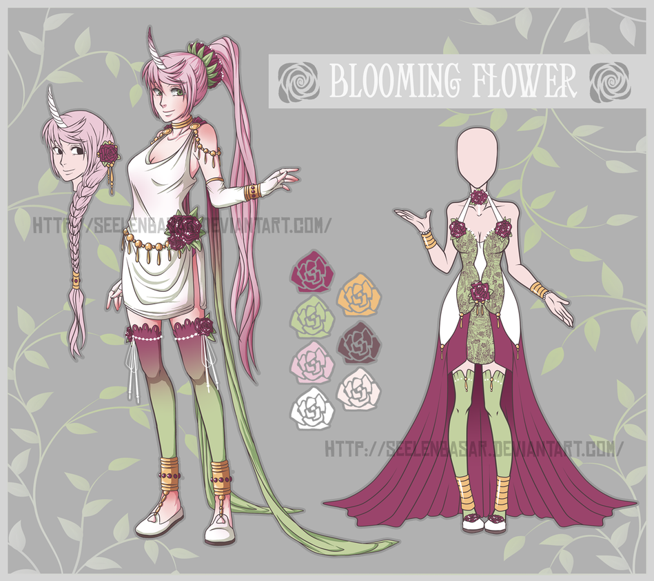 ..Blooming Flower Character Adopt...Auction CLOSED by Seelenbasar