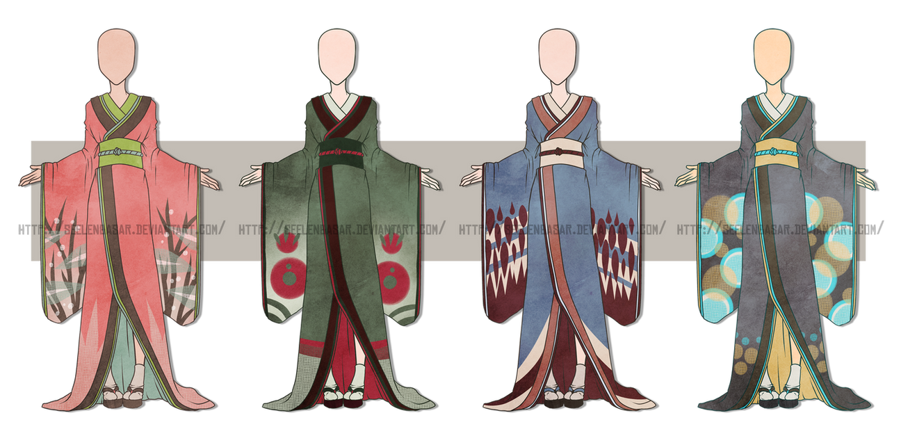 ...Kimono Dress Batch... 0/4 CLOSED by Seelenbasar