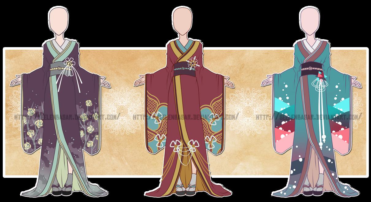 ...Colorful Kimonos...Adoptions 0/3 // CLOSED by Seelenbasar