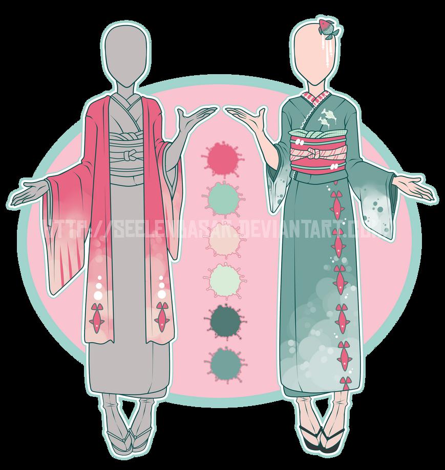 ...Atlantica Siren... Kimono Adopt // CLOSED by Seelenbasar