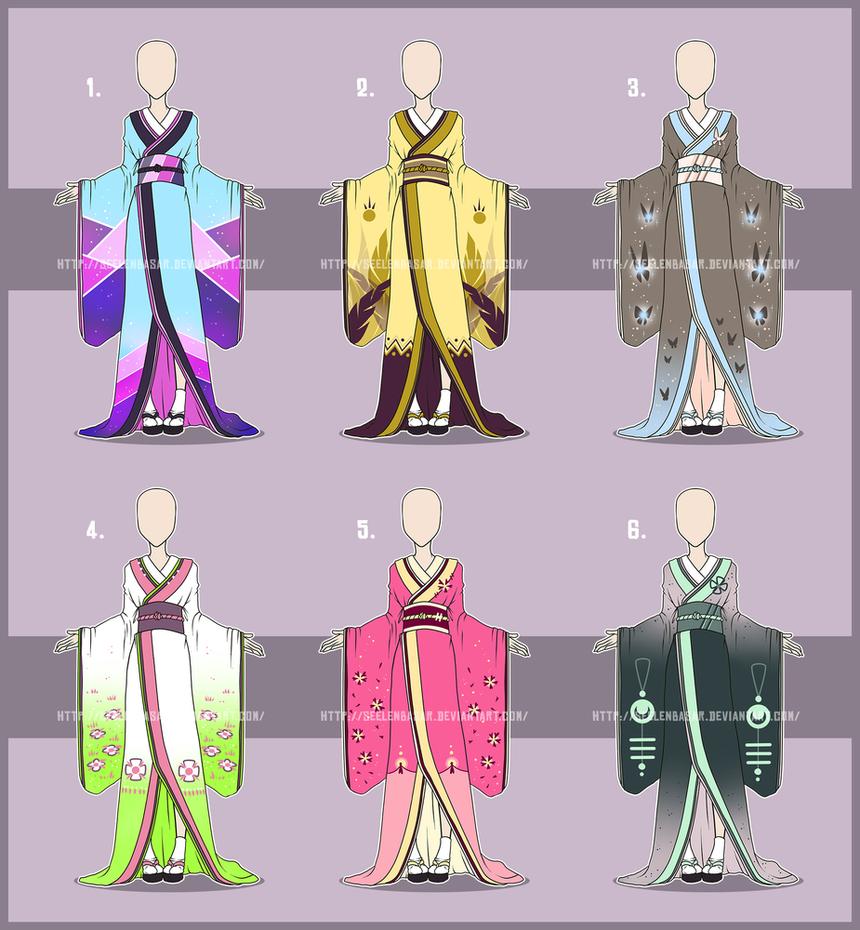 ...Kimonos... Adopts [CLOSED] 0/6 by Seelenbasar on DeviantArt