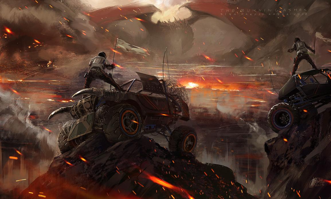 The Burning Ashes by sinakasra