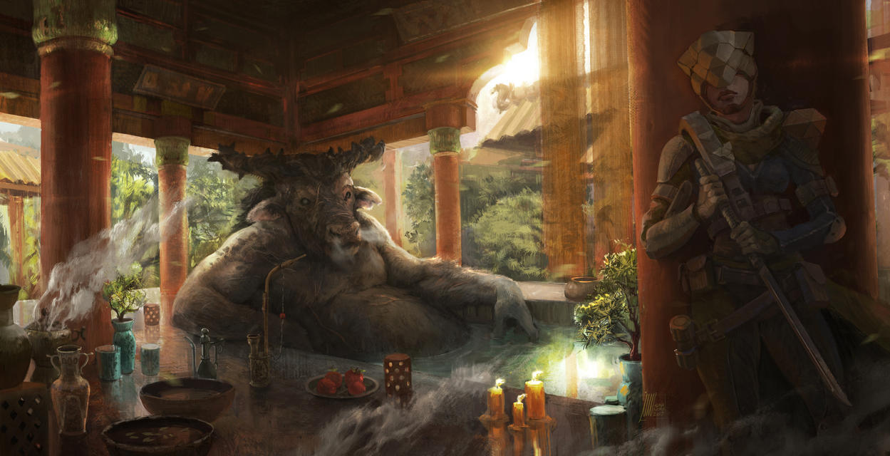 The Assassination of the Minotaur by sinakasra