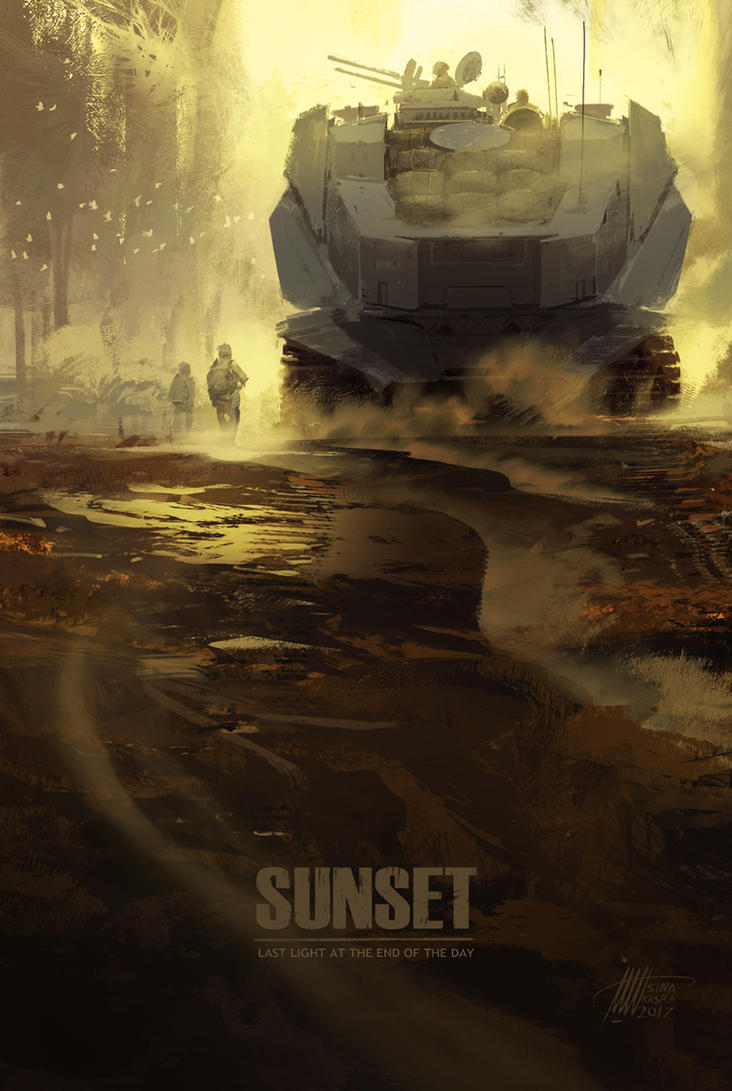 Sunset - Riding to the Deep Yellow by sinakasra