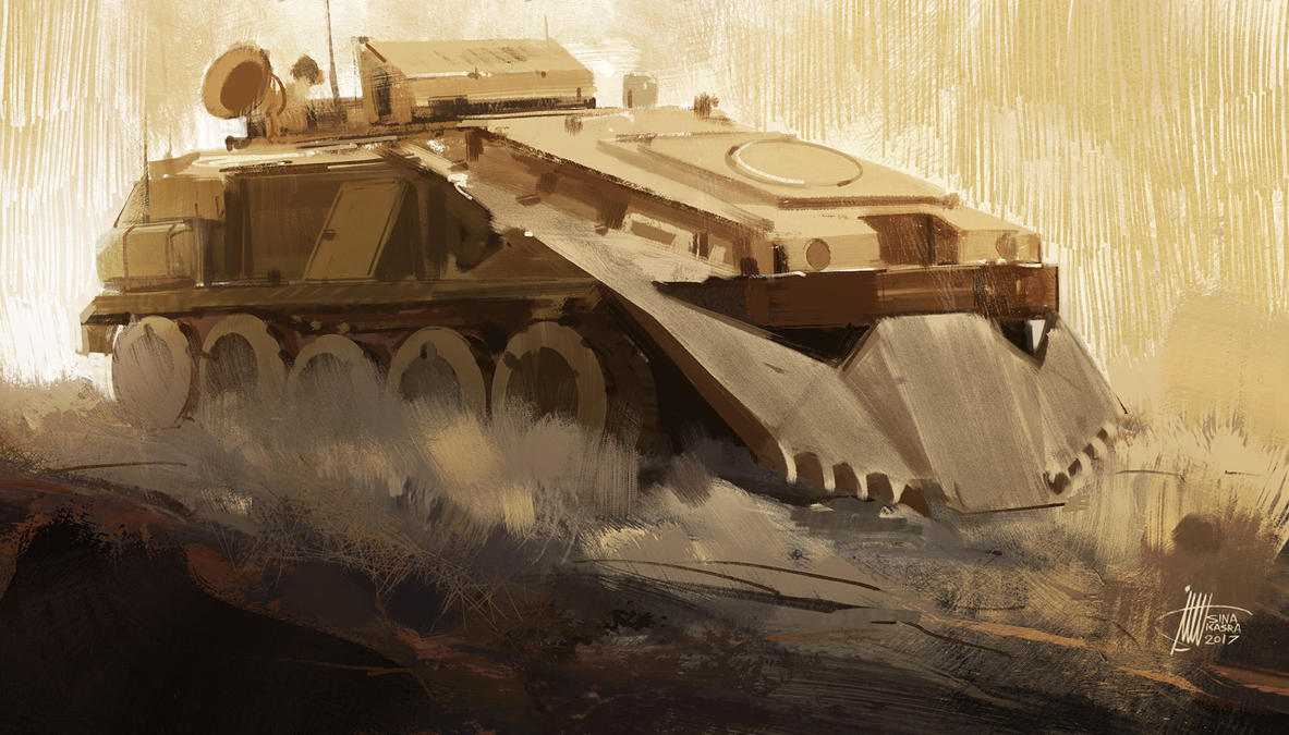 Armoured Personnel Carrier by sinakasra