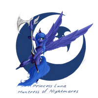 Princess Luna - Huntress of Nightmares by Skitsniga