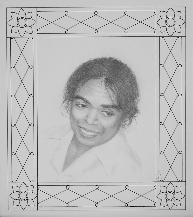Pencil drawing: Portrait of a Sri Lankan Lady by Denish-C