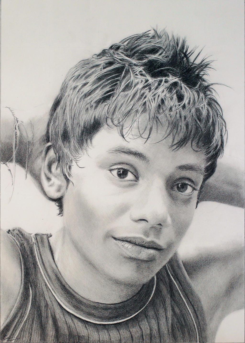 Pencil drawing: Portrait of a Boy by Denish-C